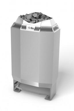 FinTec Elektro-Saunaofen KAJA edelstahl mit Stellfüßen
