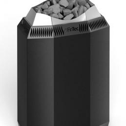 FinTec Elektro-Saunaofen KAJA schwarz pulverbeschichtet