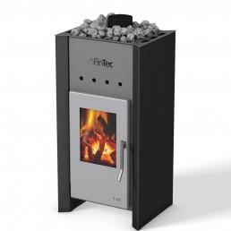 FinTec Holz-Saunaofen TROLL deep black metallic