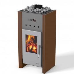 FinTec Holz-Saunaofen TROLL perlkupfer metallic