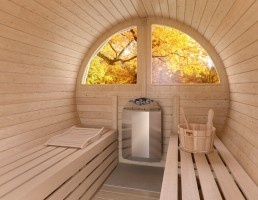 FinTec Elektro-Saunaofen KAJA edelstahl