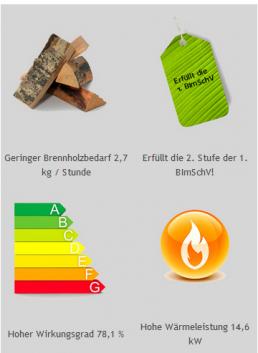 Emissionswerte Holz-Saunaofen FinTec LORA